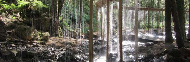 Bridal Veil Water Curtain Installation 1 Amazing Water Curtain in the Woods of France