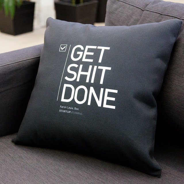 Get Shit Done Pillow 01 Daily Gadget Inspiration #167