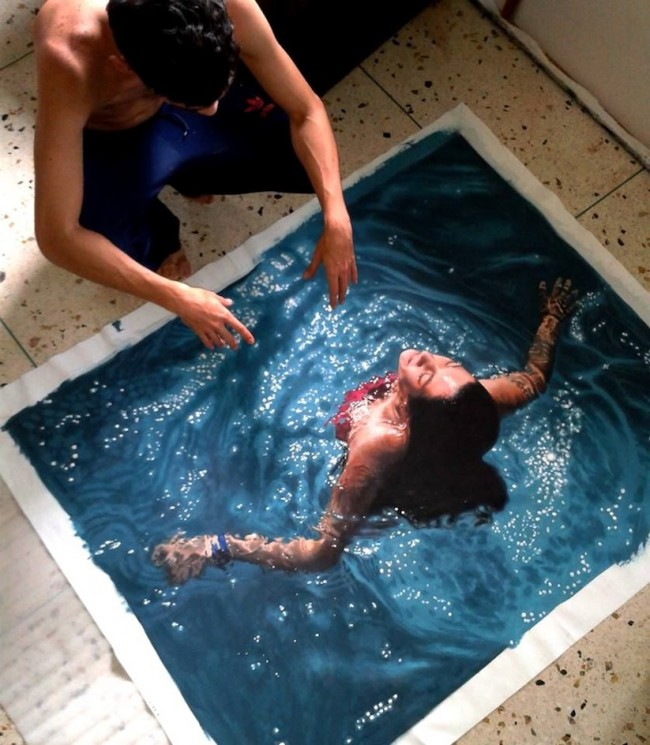 Hyperrealistic Oil Paintings Of People Swimming by Gustavo Silva Nunez 2014 01 650x745 Hyperrealistic Oil Paintings Of People Swimming by Gustavo Silva Nuñez