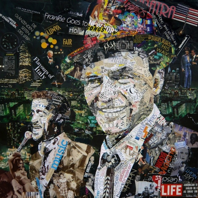 Iconic Collage Portraits by Ines Kouidis 2014 01 650x653 Iconic Collage Portraits Made Of Old Newspapers, Glossy Magazines and Posters by Ines Kouidis