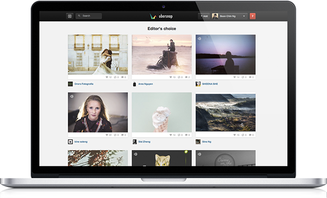 MacBook Pro mockup 03 Ubersnap   Change the Way You Share Your Photos