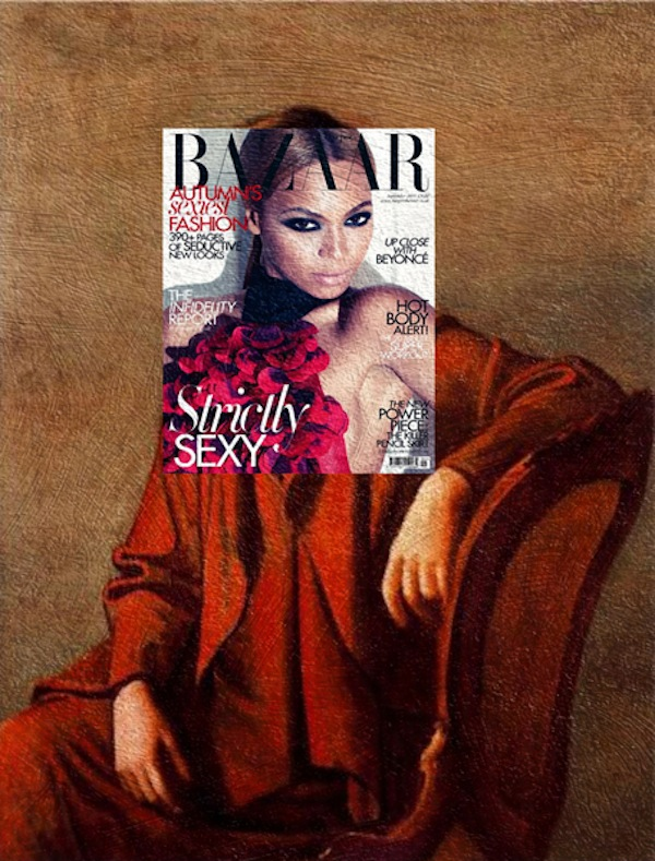 "Mag and  Art Funny Mash Ups Of Fashion Magazine Covers With Classical Paintings 2014 01 ""Mag + Art"" – Funny Mash Ups Of Fashion Magazine Covers With Classical Paintings"