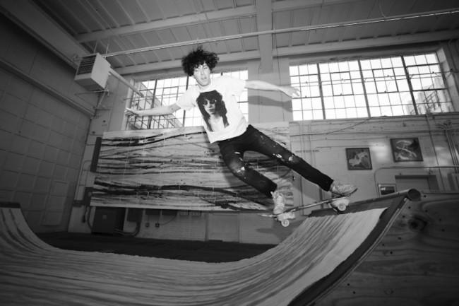 "Matt Reilly Creates Paintings By Performing Skateboard Tricks On A Ramp 2014 001 650x433 ""Wall Ride"" – Matt Reilly Creates Paintings By Performing Skateboard Tricks On A Ramp"