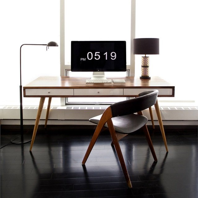 Mid Century Desk by Jeremiah Collection 01 Daily Gadget Inspiration #182