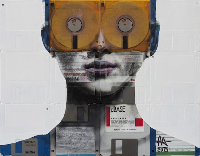 Nick Gentry floppy negative disk portrait  650x507 Nick Gentry