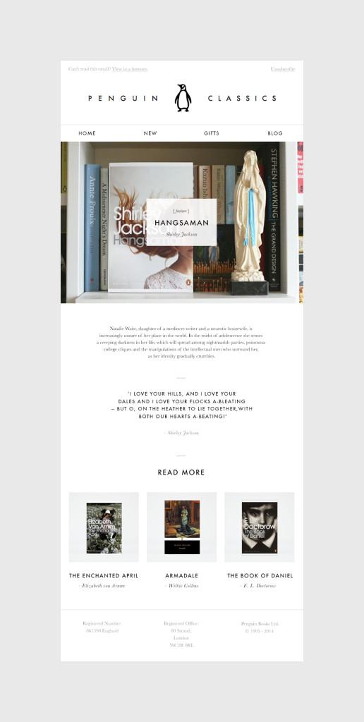 Penguin Classics 1 516x1024 Penguin Email Design