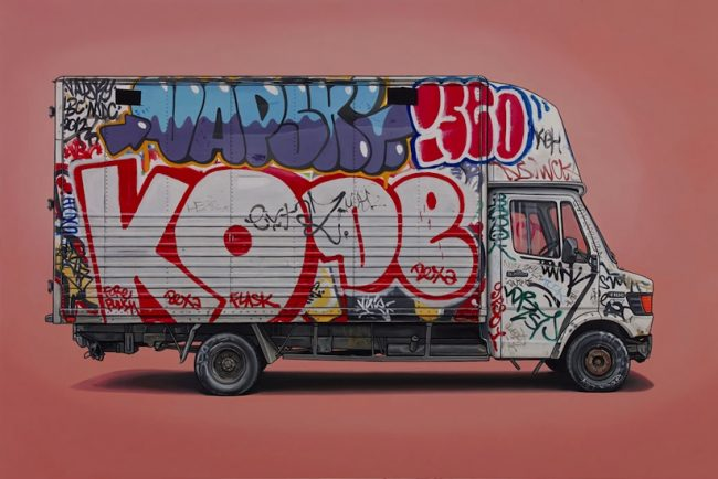 Right Place Right Time Van Vehicle Paintings by Kevin Cyr 2014 01 650x434 Right Place, Right Time   Van & Vehicle Paintings by Kevin Cyr