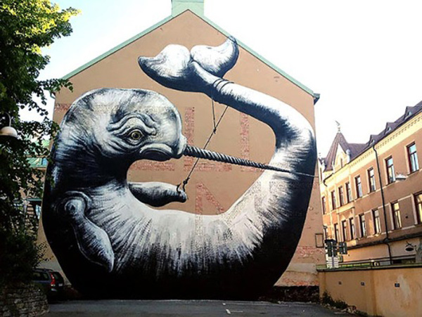 Roa Sweden 20 Best New Street Art Reps in the world