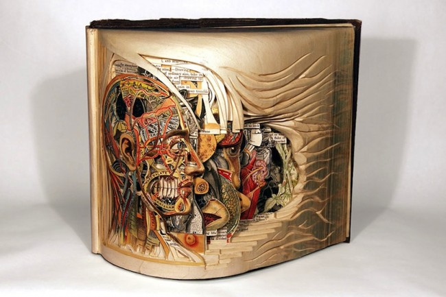 """The Book Surgeon Incredible Book Sculptures by Brian Dettmer 2014 01 650x433 """"Book Surgeon"""" – Incredible Book Sculptures by Brian Dettmer"""