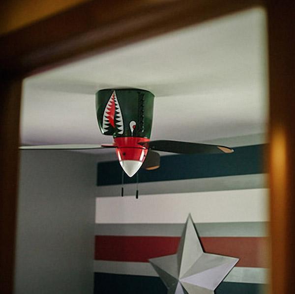 WarPlane Tiger Shark Ceiling Fan 02 Daily Gadget Inspiration #178