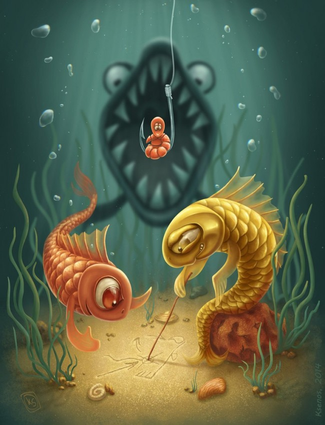 Worm Day 650x849 Digital Art Inspiration #46
