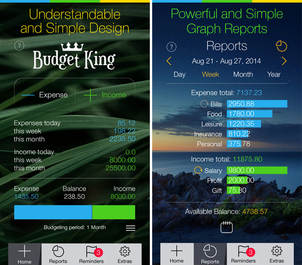 budget king 600 1 Budget King – Personal Finance Tracker for the iPhone