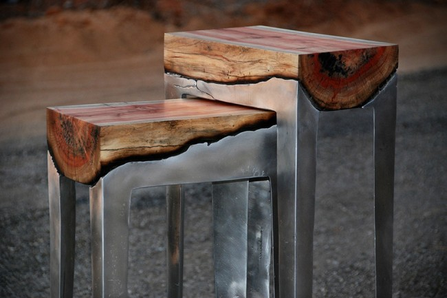 furn 1 650x433 Beautiful Furniture Made From Aluminum and Wood