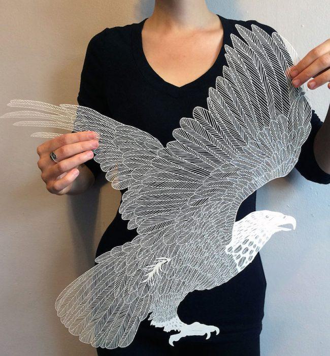 hand cut paper art maude white 01 650x701 Delicate Hand Cut Paper Art By Maude White