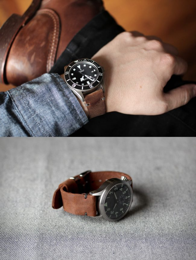 model 2 horween straps large 650x862 Model 2 Horween Straps, by Worn & Wound