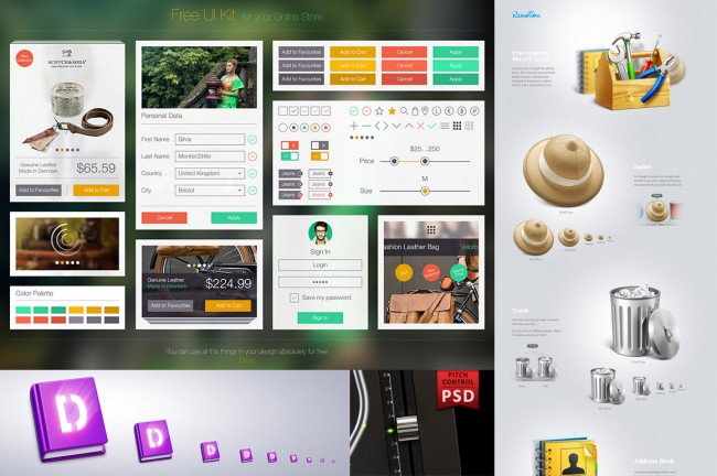 mprev 650x432 Free Icons & UI Bundle from Ramotion