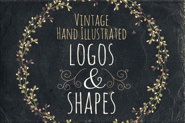 mprevie 650x432 Vintage Hand Illustrated Logos & Shapes
