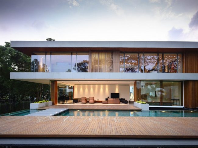 ongong singapore house 01 650x484 65BTP House – Modern Residence in Singapore by ONG&ONG Architects