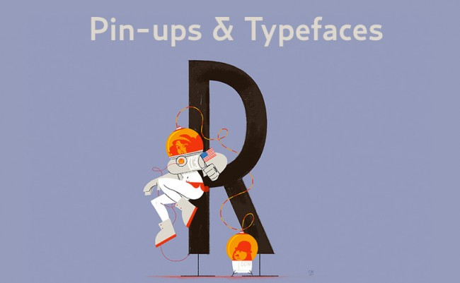 pinups 650x401 Pinups & Typefaces: a love story