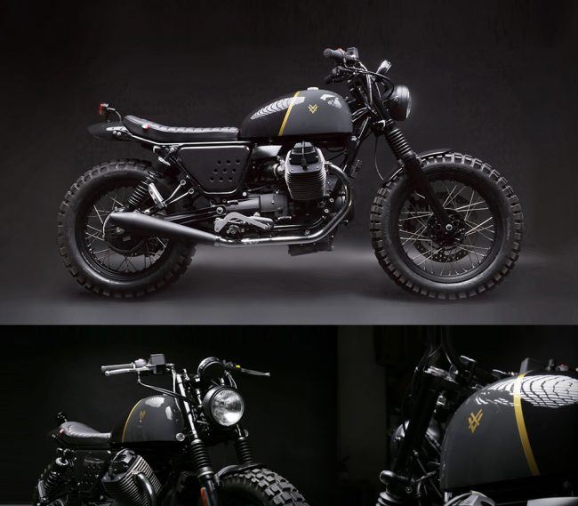 venier customs moto guzzi v7 stone large 650x569 Moto Guzzi V7 Stone, by Venier Customs