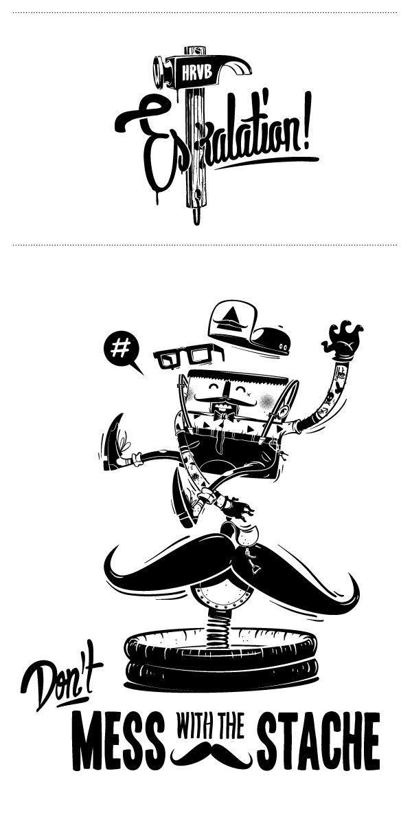 001 black white illustrations hrvb Cool Illustrations by HRVB