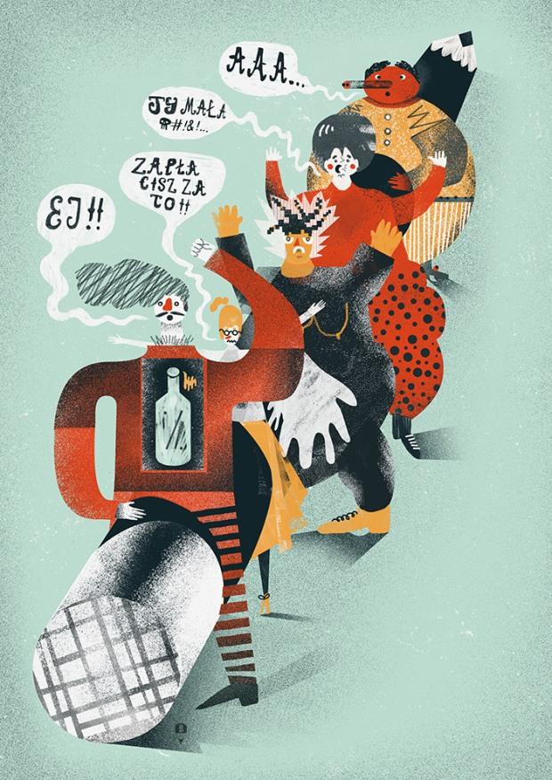 001 editorial illustrations by karol banach Editorial Illustrations by Karol Banach
