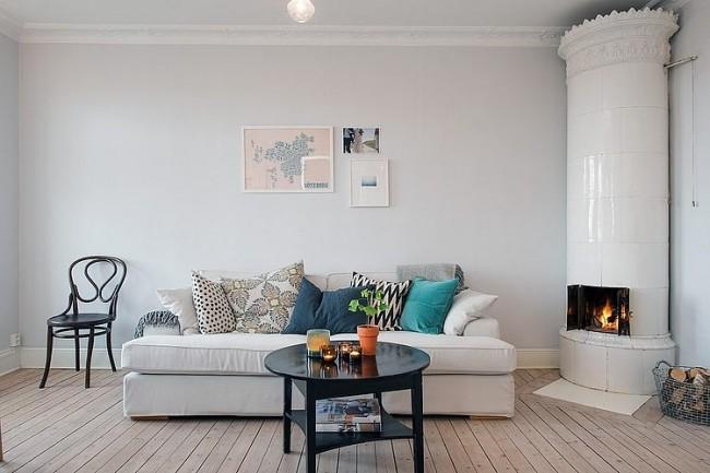 001 vre djupedalsgatan apartment 650x433 Övre Djupedalsgatan Apartment by Johanna Tant