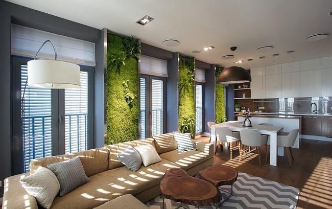 003 green apartment svoya studio 650x409 Green Apartment by SVOYA Studio