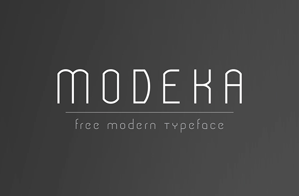 1.Free Font Of The Day Modeka Free Font Of The Day : Modeka