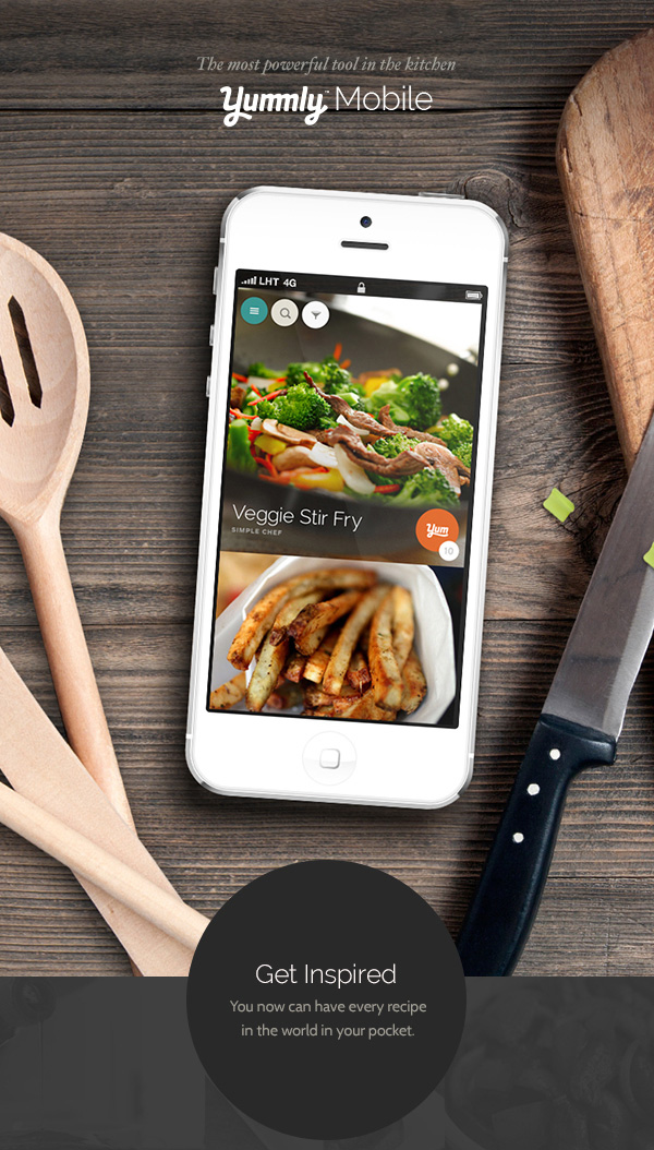 1.Yummly app Mobile App Design Inspiration – Yummly (FREE – available on app store)