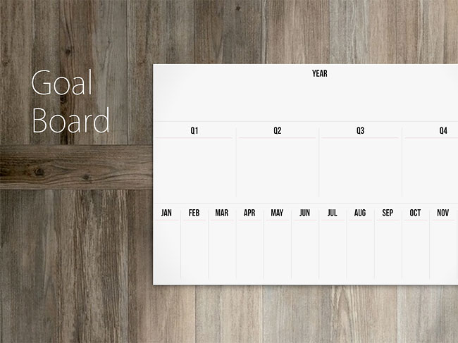 125 Goal Board by The Linear Calendar