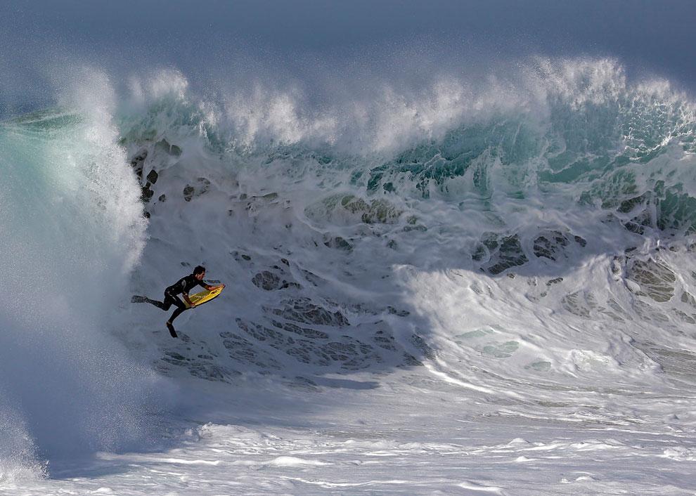 133 Surfers Delight in Hurricane Maries Big Waves