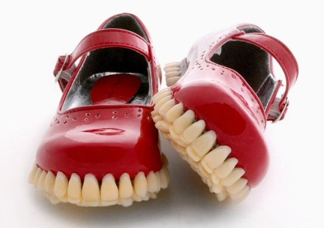 1401978717 1 640x452 Creepy Tooth Soled Shoes by Fantich & Young