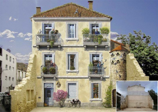 1402418586 1 640x452 Incredibly Realistic Fake Facades by Patrick Commecy
