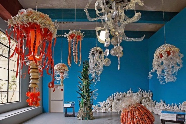 1402769122 1 640x426 Beach Trash Turned into Meaningful Art by Angela Haseltine Pozzi