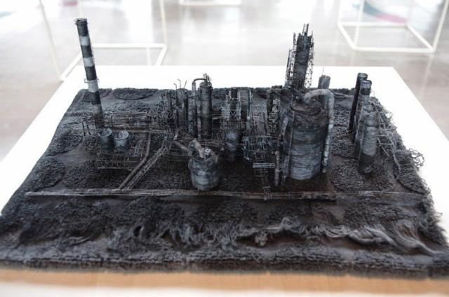 1402933738 1 640x424 Miniature Industrial Thread Sculptures by Takahiro Iwasaki