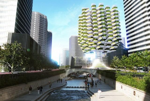 1405704063 1 640x431 Skyfarm   A Futuristic Concept of a Skyscraper Farm