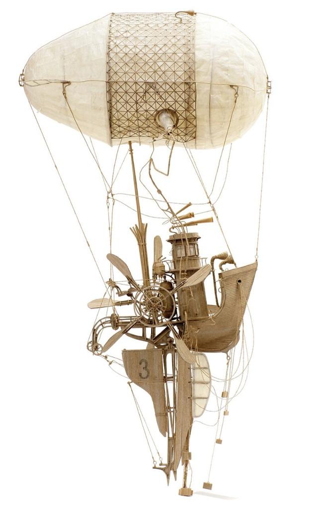 1407922104 1 640x1040 Cardboard Steampunk and Aerodynamics by Daniel Agdag