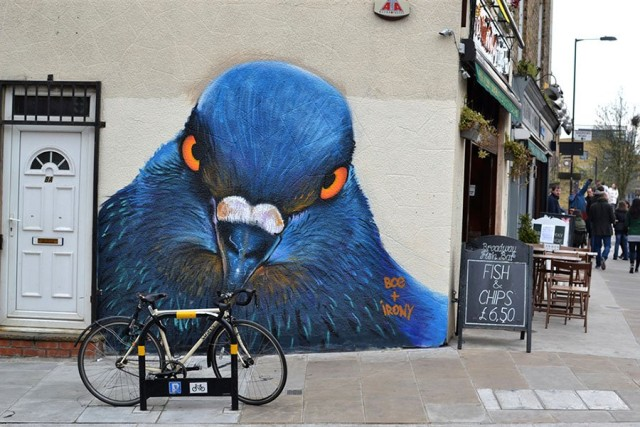 1408346268 7 640x427 Animal Murals on the Streets of London by Irony and Boe