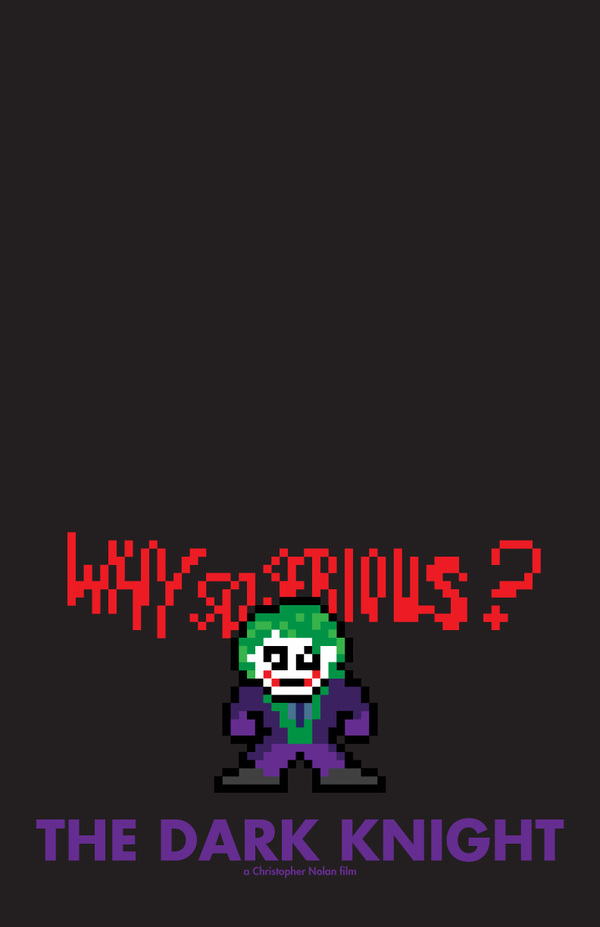 8 Bit Movie Posters by Eric Palmer the dark knight 8 Bit Movie Posters