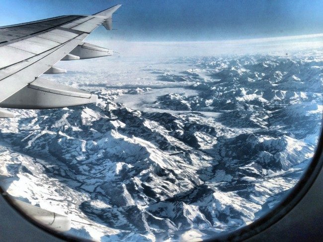 Amazing Alpes From Airplane 650x486 20 Breath Taking Photos Taken From an Airplane