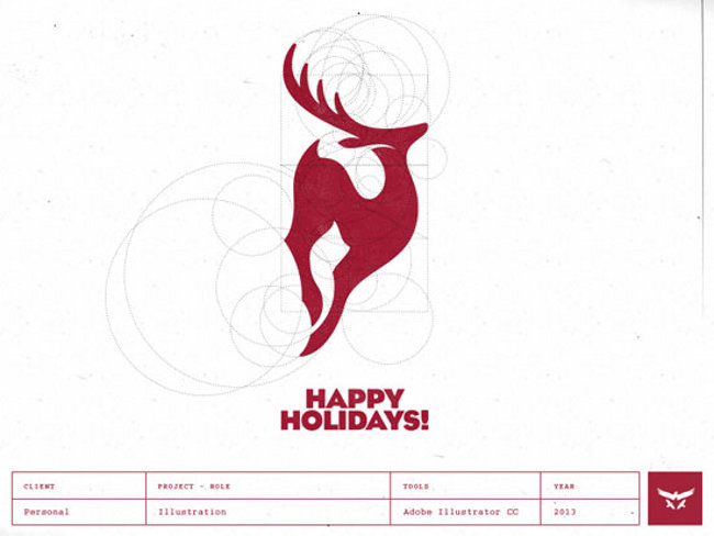 Gert logo designs bribbble happy holidays Brilliant One Color Logo Designs by Gert van Duinen