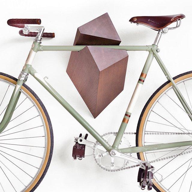 Oak Wood Bike Hanger by Woodstick Daily Gadget Inspiration #196