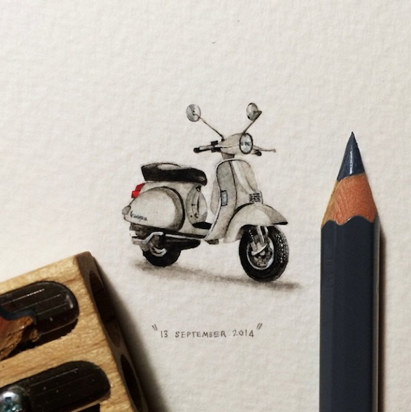 Postcards for Ants Miniature Watercolor Paintings by Lorraine Loots 2014 01 Postcards for Ants   Miniature Watercolor Paintings by Lorraine Loots