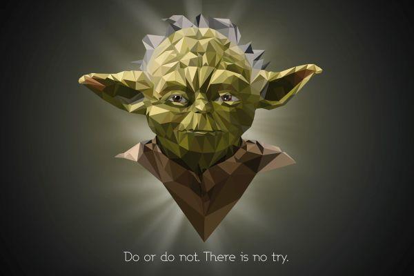 Star Wars Low Poly Portraits Yoda Polygonal Star Wars Portraits