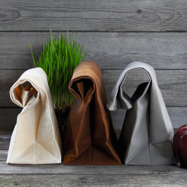 The Brown Bag Waxed Canvas Lunch Bags 01 Daily Gadget Inspiration #201