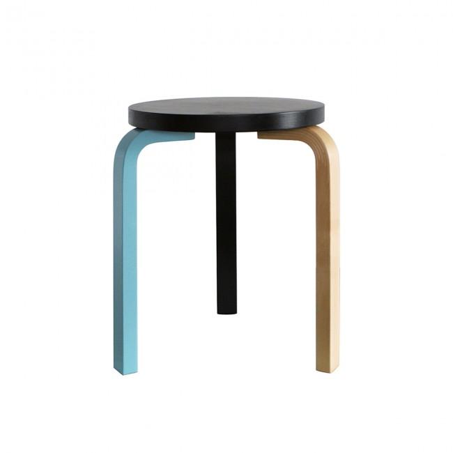 artek stool 60 mikemeire annedition black teal birch silo 1 650x650 Modern Scandinavian Design   functionality and timeless aesthetics