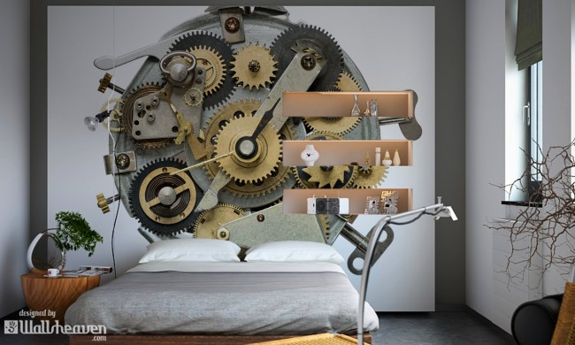 b5edd2a8f1 650x390 Steampunk interiors. Its more than wall murals and wall decals