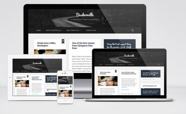 baskerville 01 650x397 Baskerville : Free Responsive Personal WordPress Theme