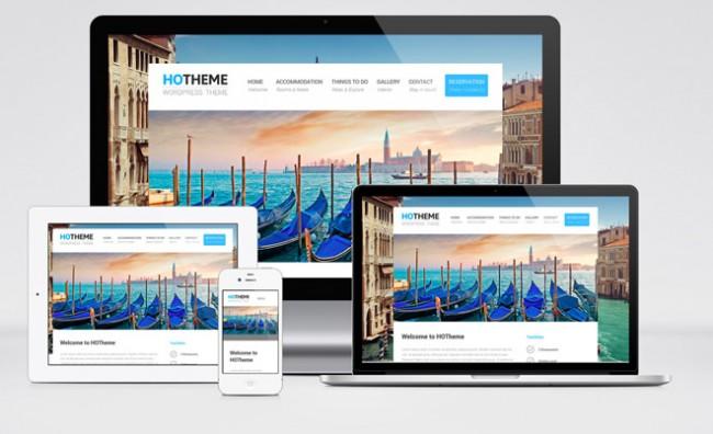 hotheme 01 650x396 Hotheme : Free Responsive Hotel WordPress Theme